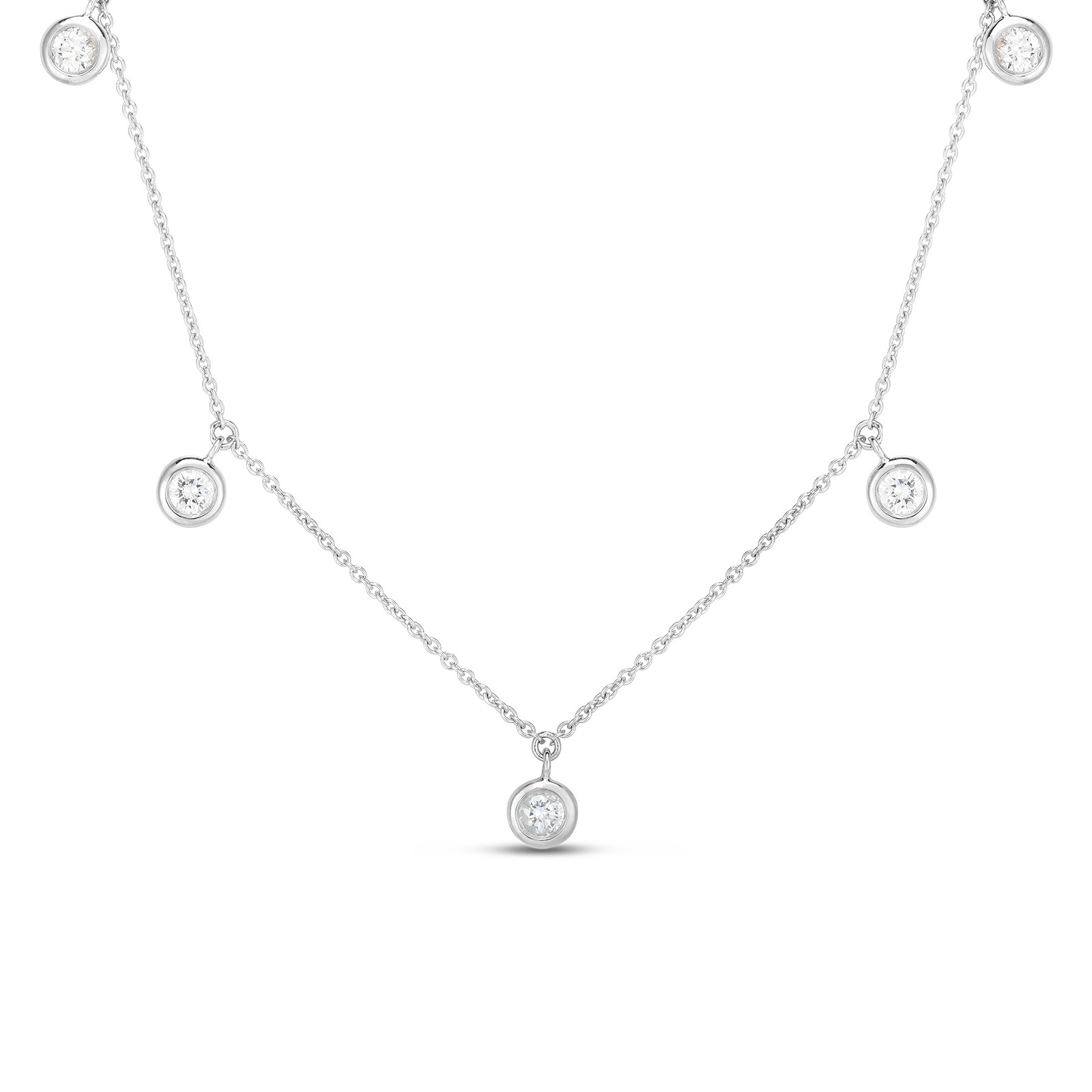 Roberto Coin 18K White Gold .23cts  Diamonds Gold Necklace with Stones 530009AWCHX0