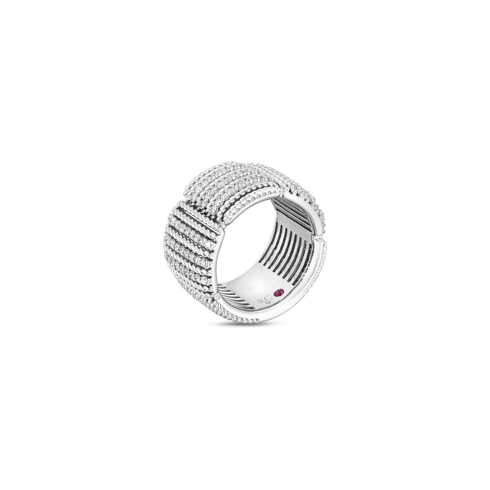 Roberto Coin 18K White Gold .67cts  Diamonds Gold Ring with Stones 7772895AW65X