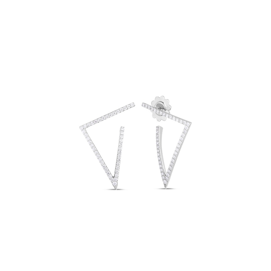 Roberto Coin 18K White Gold .83cts  Diamonds Gold Earrings with Stones 8882982AWERX