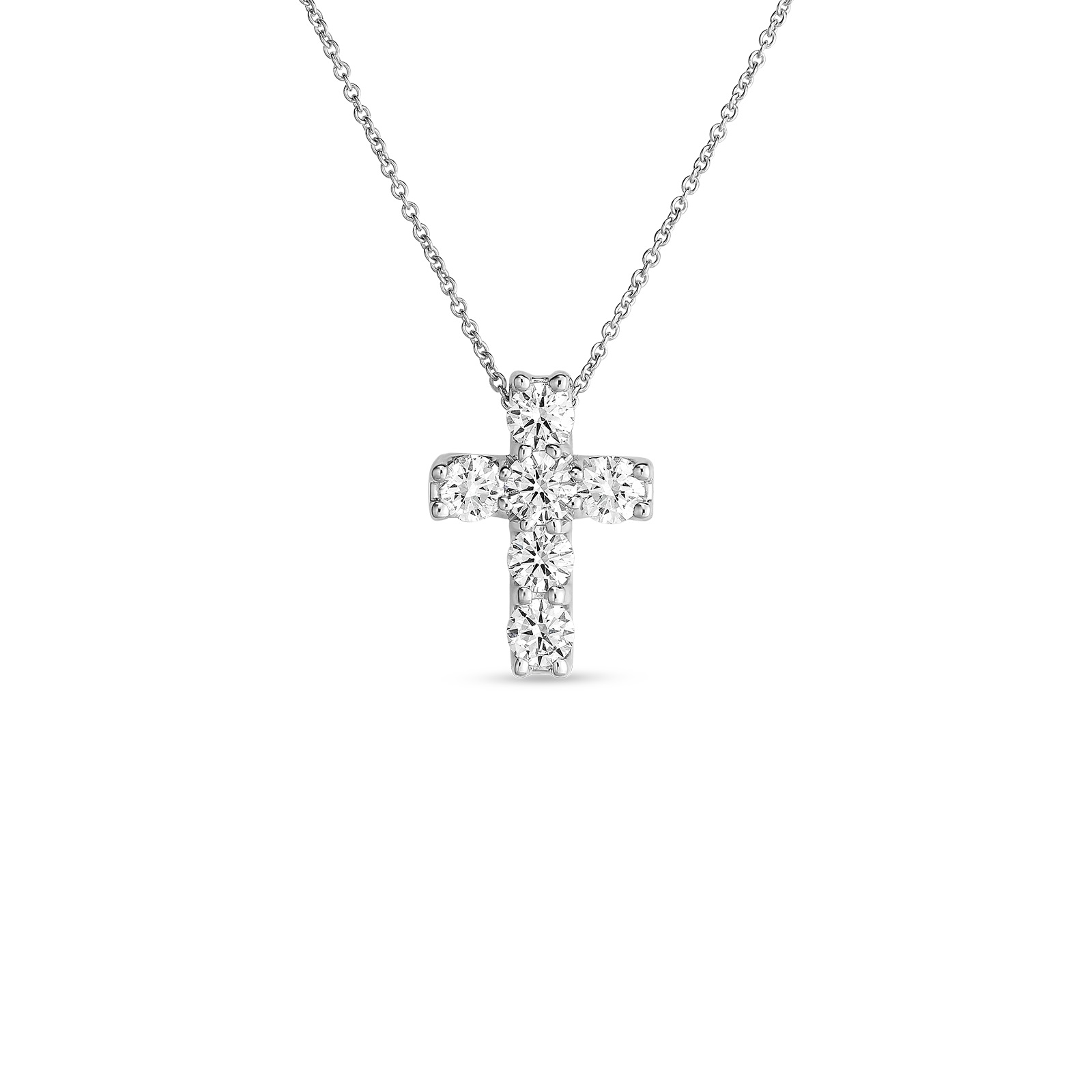 Roberto Coin 18K White Gold 1.06cts  Diamonds Gold Necklace with Stones 000814AWCHX0