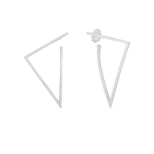Roberto Coin 18K White Gold 1.4cts  Diamonds Gold Earrings with Stones 8882983AWERX