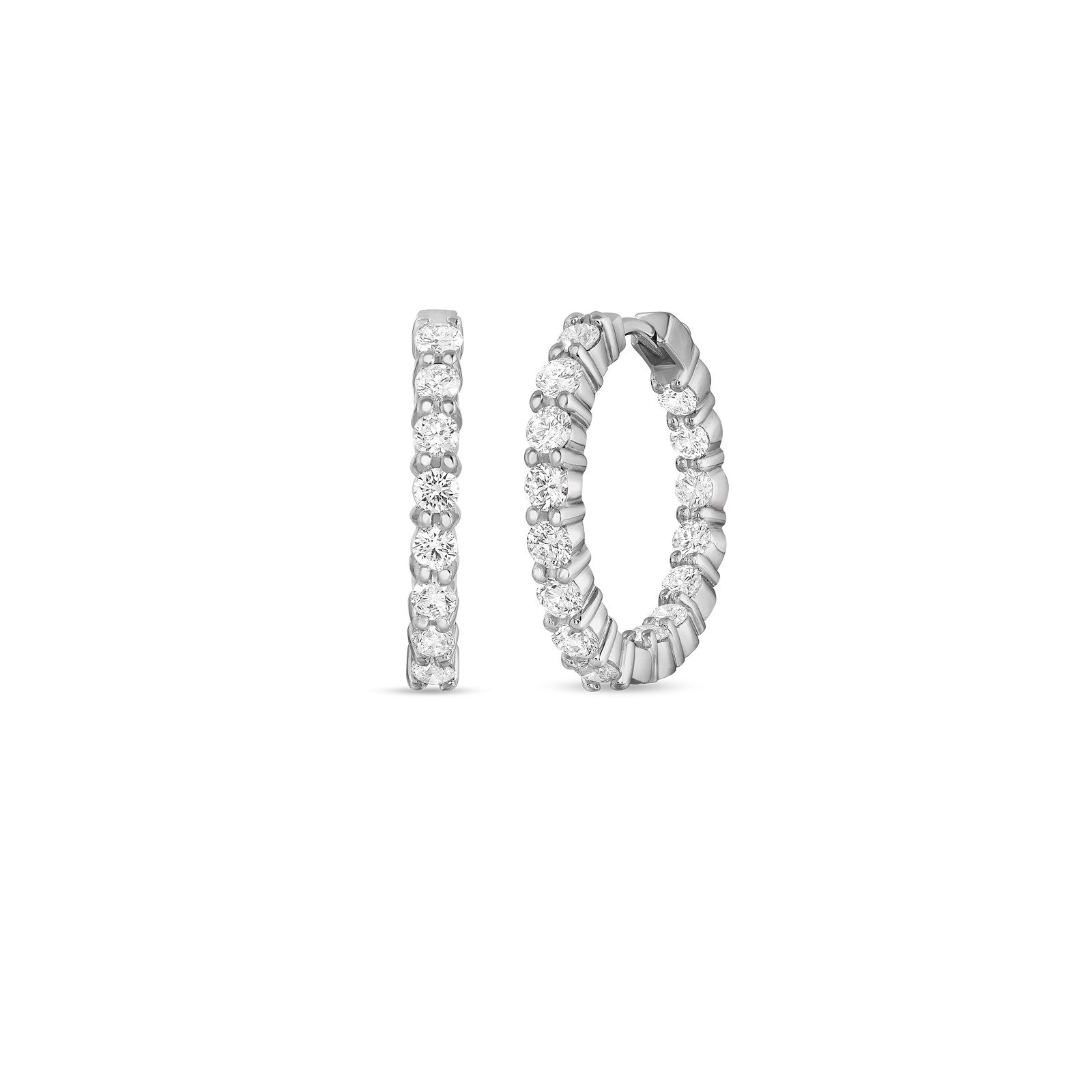 Roberto Coin 18K White Gold 2.35cts  Diamond Gold Earrings with Stones 000568AWERX0