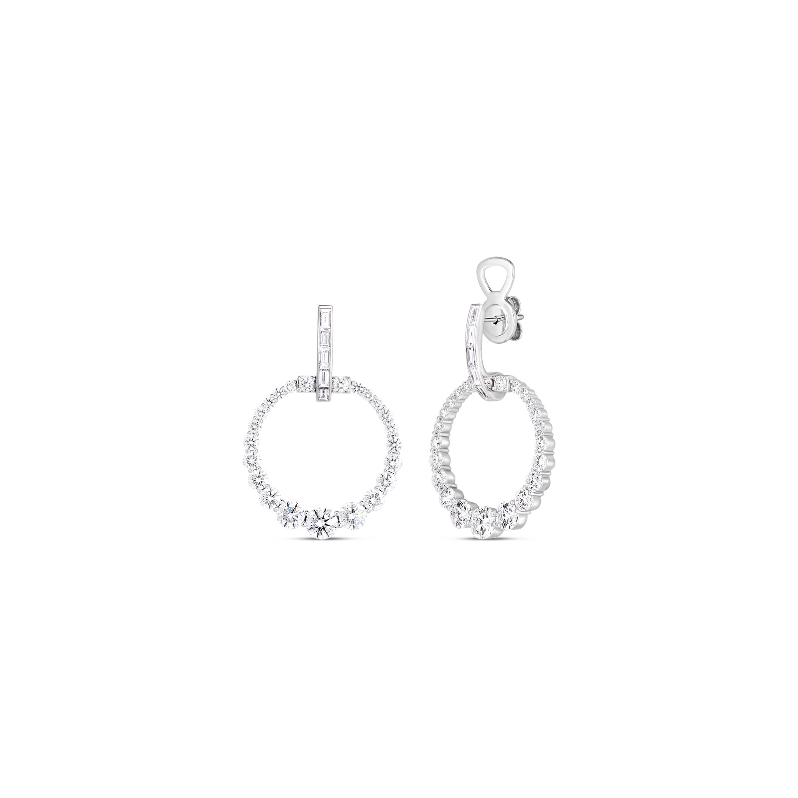 Roberto Coin 18K White Gold 4.65cts  Diamonds Gold Earrings with Stones 8882950AWERX