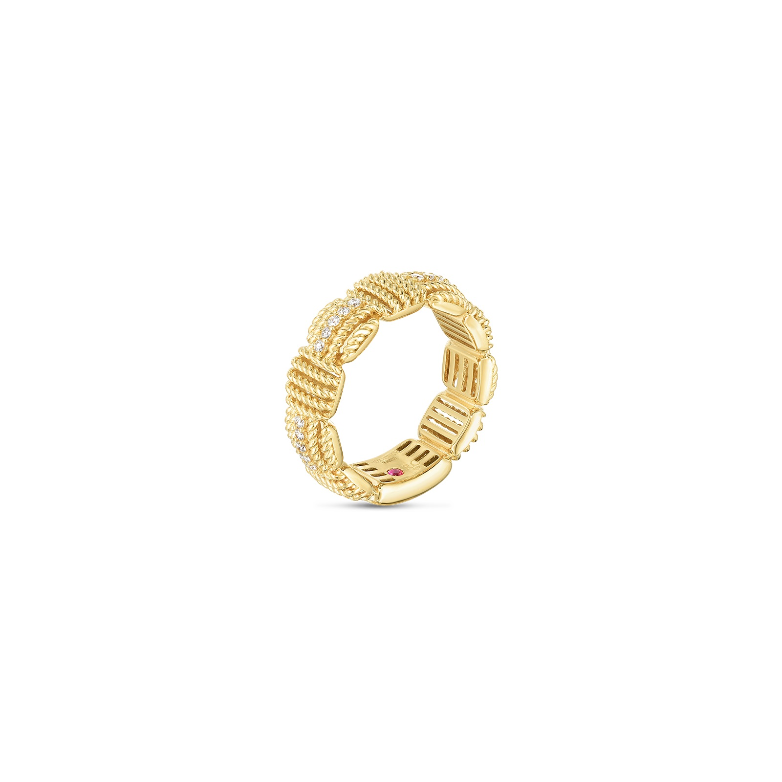 Roberto Coin 18K Yellow Gold .16cts  Diamonds Gold Ring with Stones 7772894AY65X