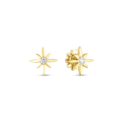 Roberto Coin 18K Yellow Gold .20cts  Diamonds Gold Earrings with Stones 8882723AYERX