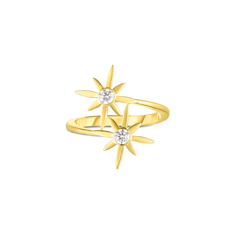 Roberto Coin 18K Yellow Gold .20ctss  Diamonds Gold Ring with Stones 8882727AY65X