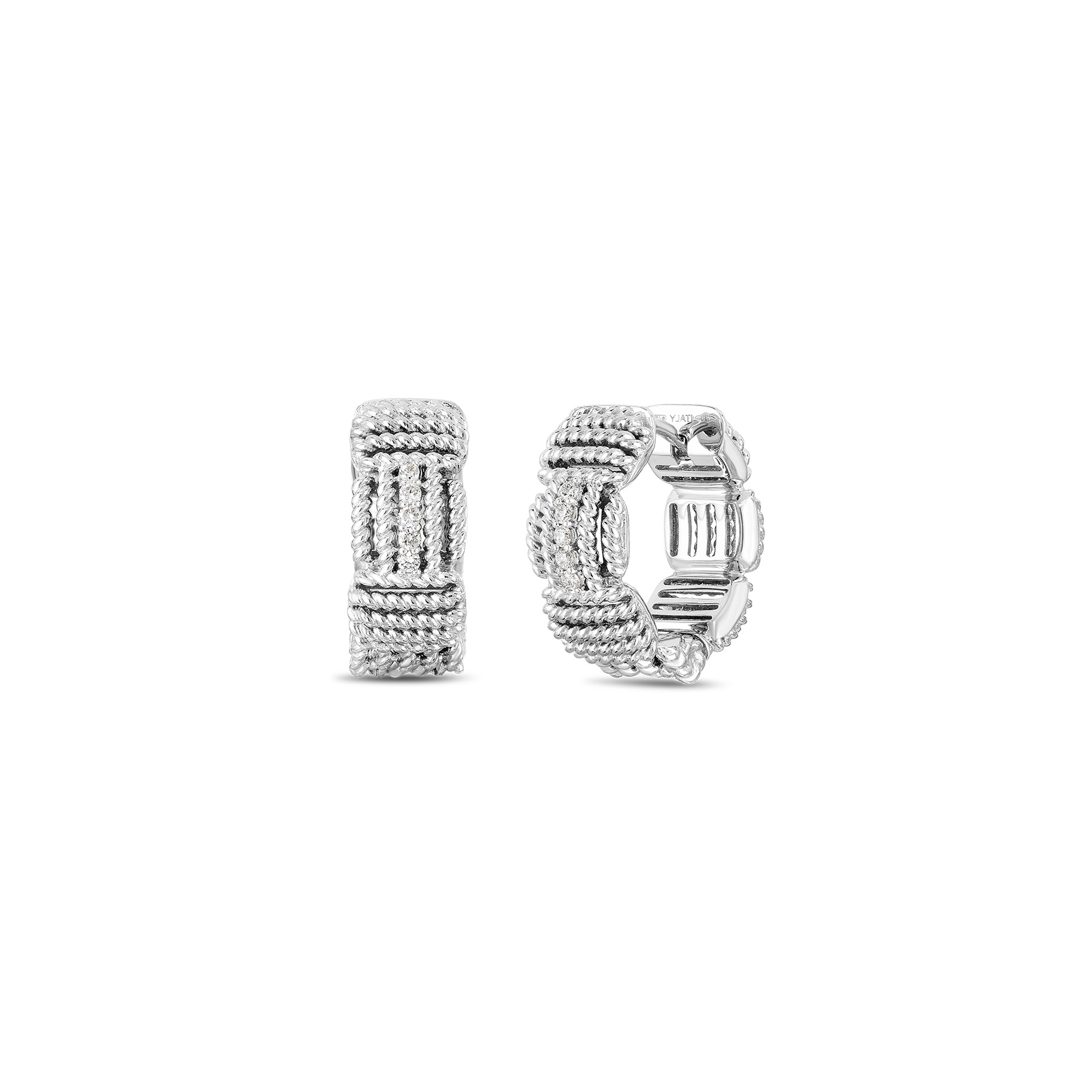 Roberto Coin 18k White Gold .07cts  Diamonds Gold Earrings with Stones 7771894AWERX