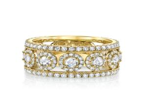 Slaone Street 18K Yellow Gold 1.71cts  Diamonds Gold Ring with Stones R008A-WD-Y