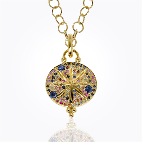 Temple St. Clair 18K Yellow Gold .09cts  Diamonds Gold Pendants / Charms P46802-LGMXSOR