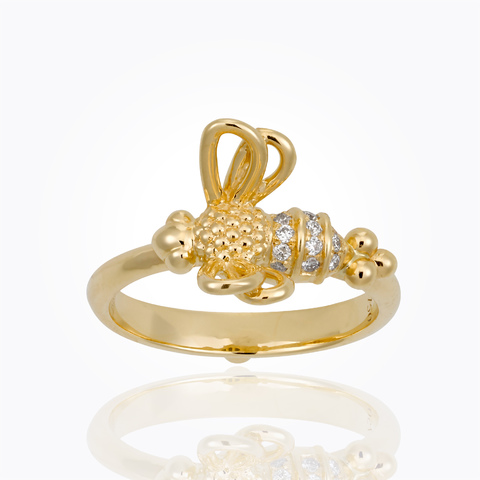 Temple St. Clair 18K Yellow Gold .09cts  Diamonds Gold Ring with Stones R31844-FLYBEE