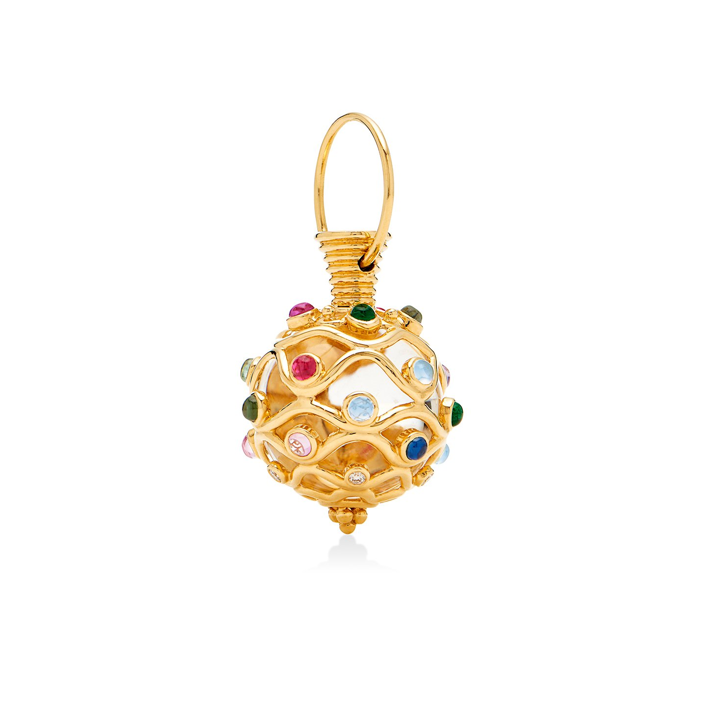Temple St. Clair 18K Yellow Gold .17cts  Diamond Gold Pendants / Charms P54860-R22THEO