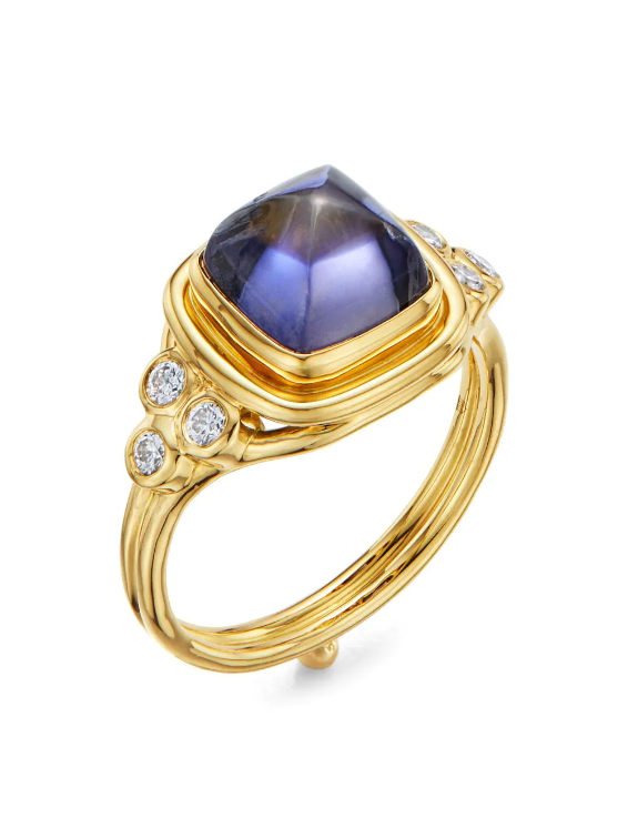 Temple St. Clair 18K Yellow Gold .20cts  Diamond Gold Ring with Stones R14132-IOSLC8