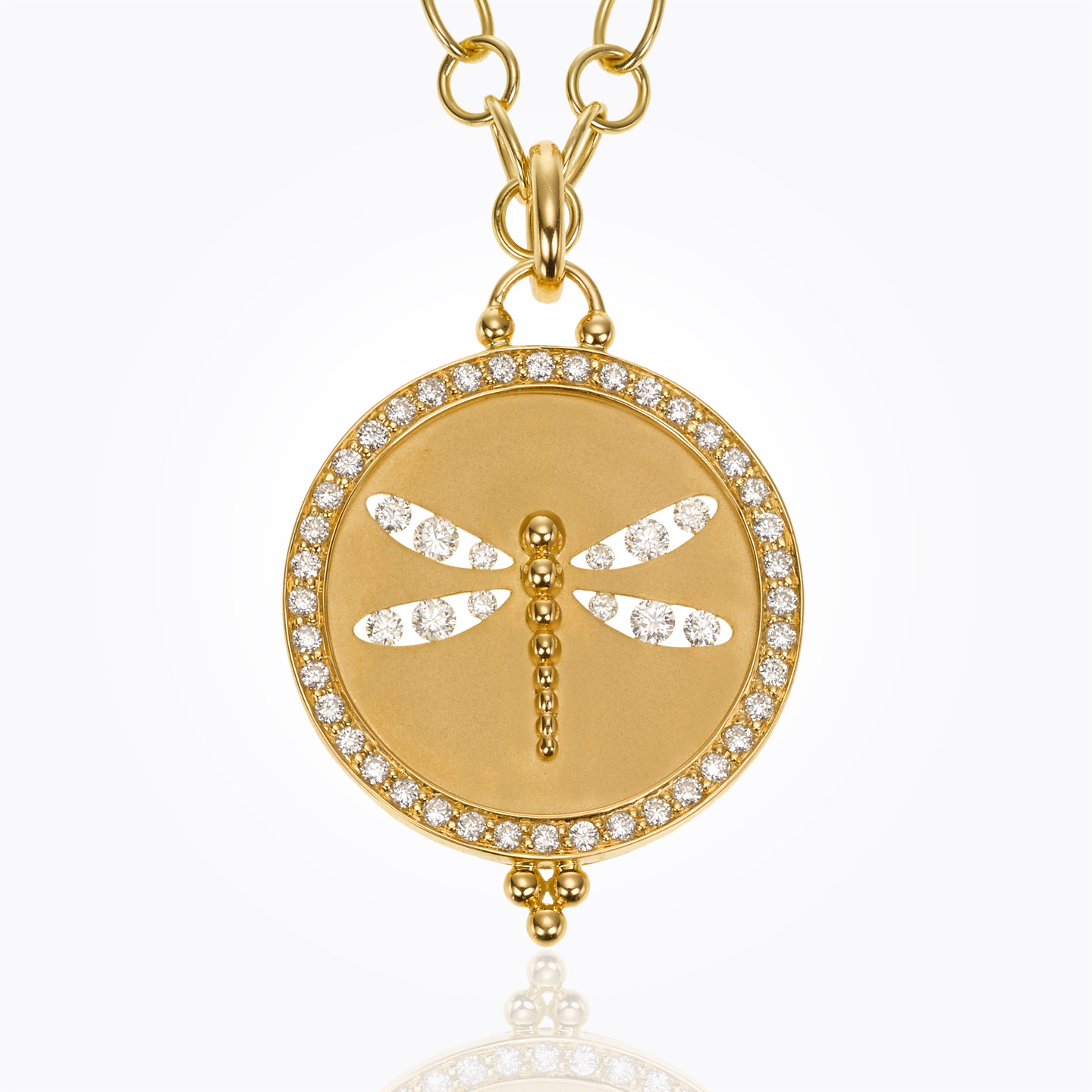 Temple St. Clair 18K Yellow Gold .94cts  Diamonds Gold Pendants / Charms P31834-PVDFLY21