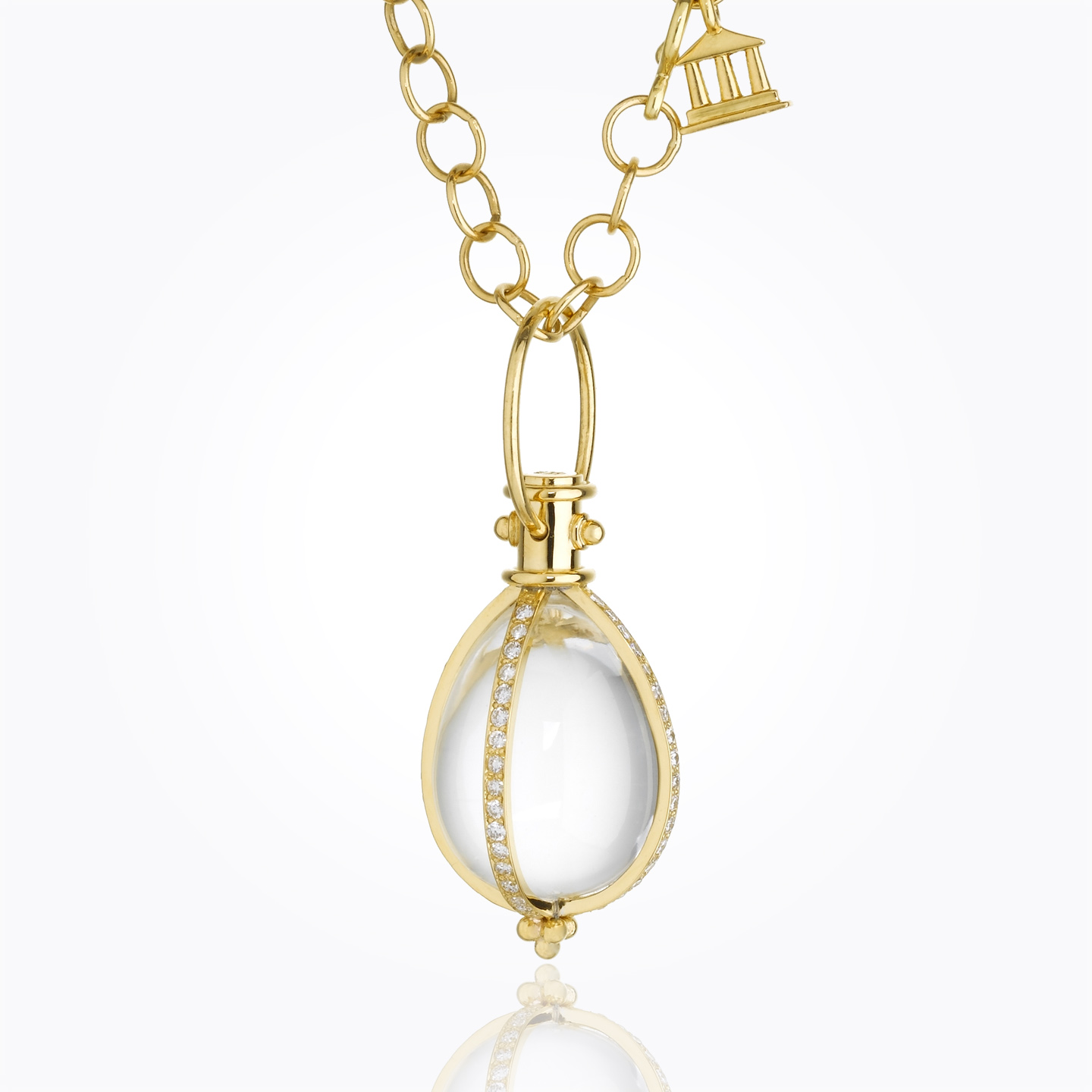 Temple St. Clair 18K Yellow Gold 1.02cts  Diamond Gold Pendants / Charms P51801-E18PV