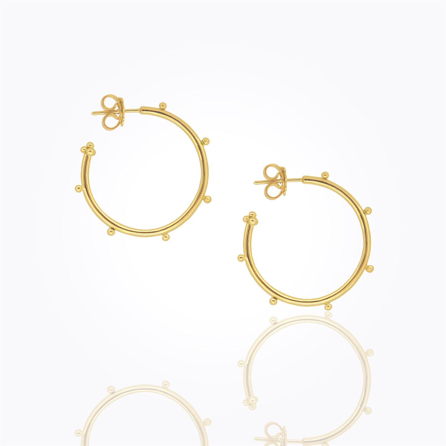 Temple St. Clair 18K Yellow Gold    Gold Earrings E18819-GRANHP