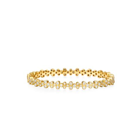 Temple St. Clair 18k Yellow Gold 2.72cts  Diamonds Gold Bangle with Stones B11834-DIGRN
