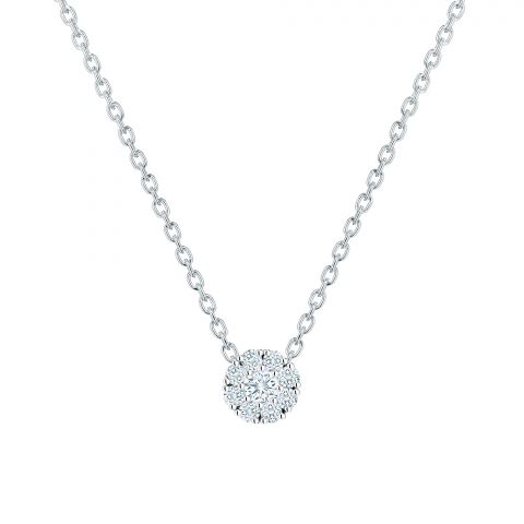 Birks 18K White Gold .15cts  Diamonds Gold Necklace with Stones 450005966830