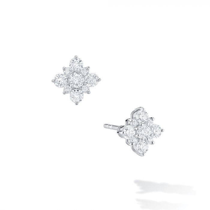 Birks 18K White Gold .38cts  Diamonds Gold Earrings with Stones 450005973920