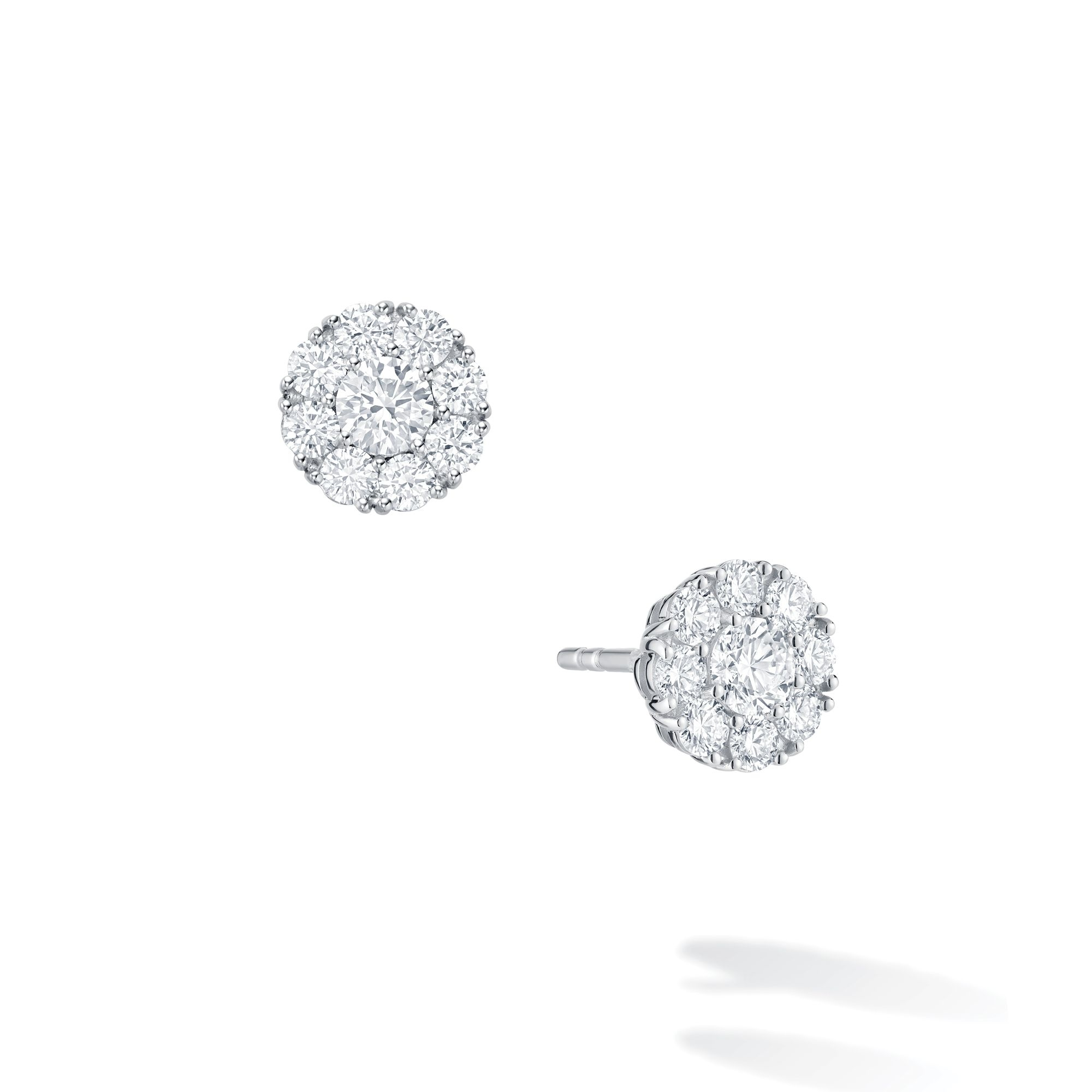 Birks 18K White Gold .43cts  Diamonds Gold Earrings with Stones 450005967257