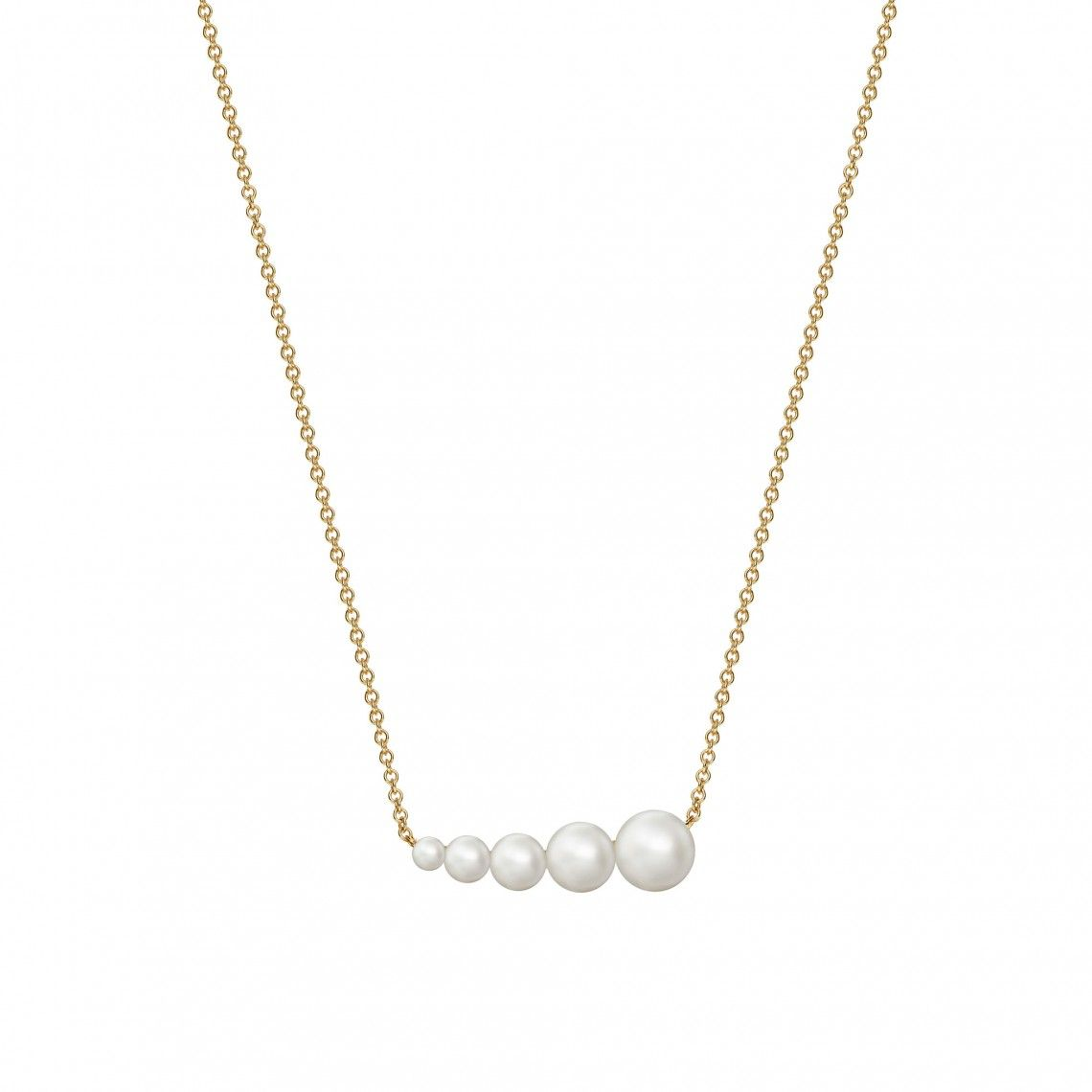 Birks 18K Yellow Gold   Pearl Gold Necklace 450011426281