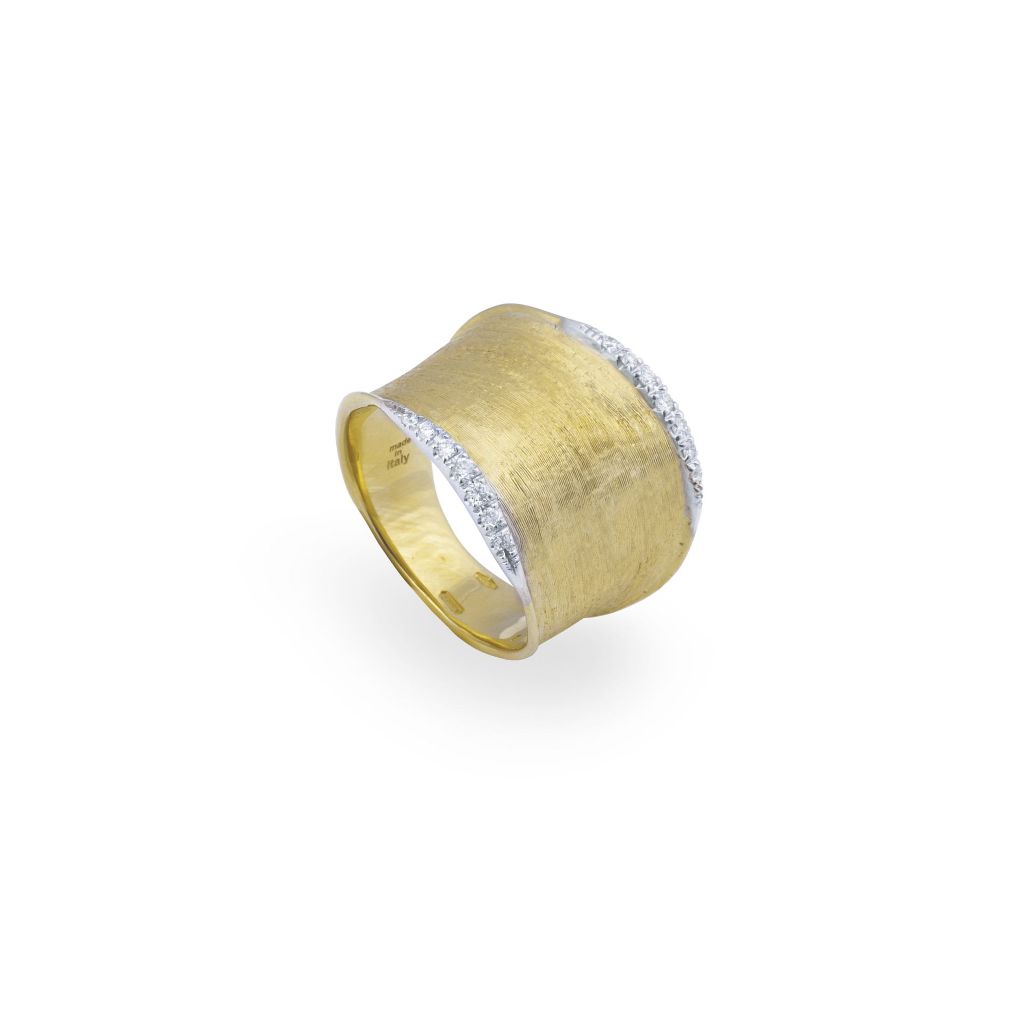 Marco Bicego 18K Yellow Gold .14cts  Diamonds Gold Ring without stones AB551-B YW