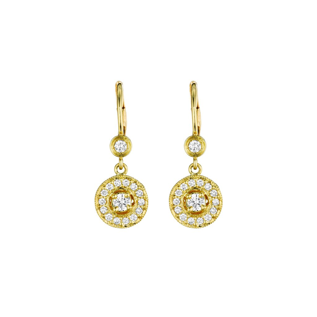 Penny Preville 18K Yellow Gold .62cts  Diamonds Gold Earrings with Stones E1004G
