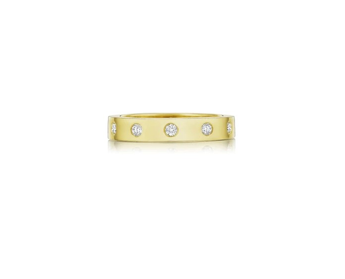 Penny Preville 18K Yellow Gold .77cts  Diamonds Gold Ring with Stones R7596G