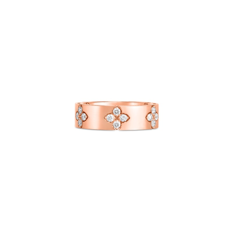 Roberto Coin 18K Rose Gold .45cts  Diamonds Gold Ring with Stones 8882968AX65X