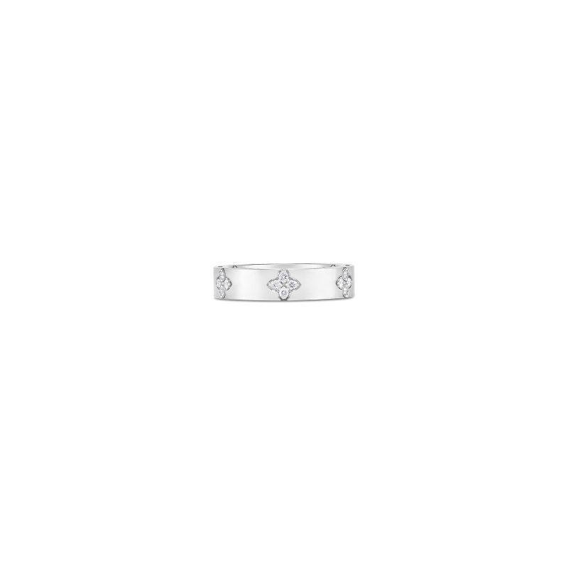 Roberto Coin 18K White Gold .15cts  Diamonds Gold Ring with Stones 8882970AW65X