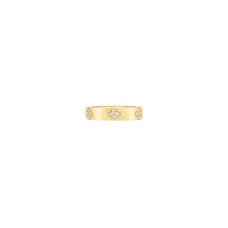 Roberto Coin 18K Yellow Gold .15cts  Diamonds Gold Ring with Stones 8882970AY65X