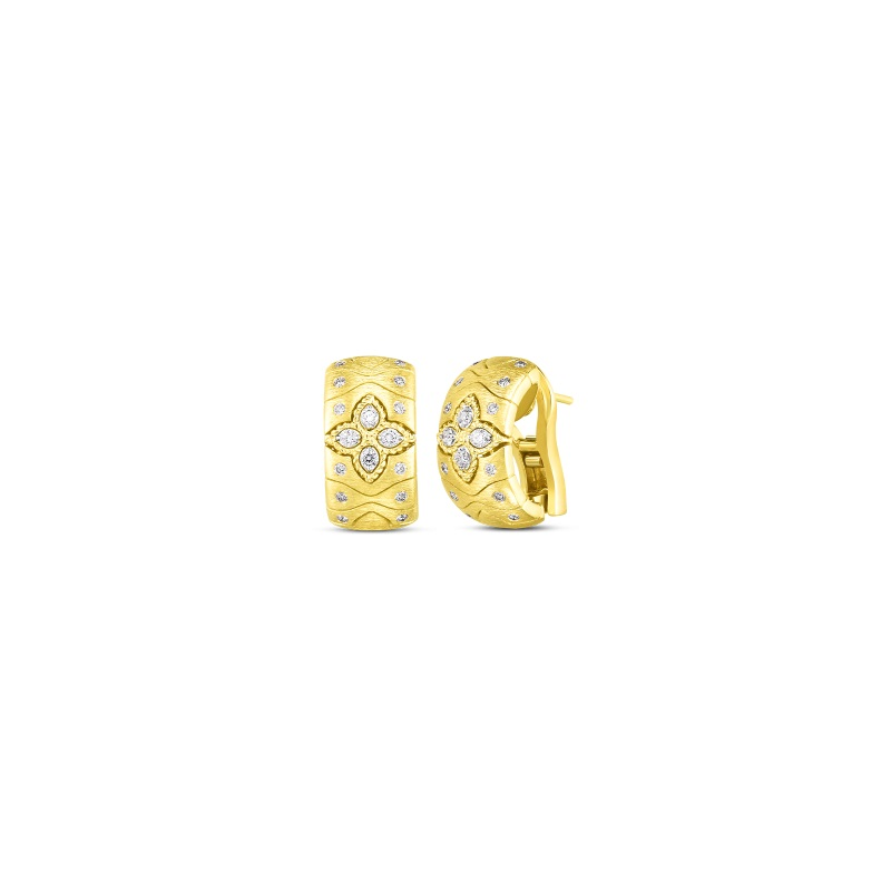 Roberto Coin 18K Yellow Gold .44cts  Diamonds Gold Earrings with Stones 7772990AJERX