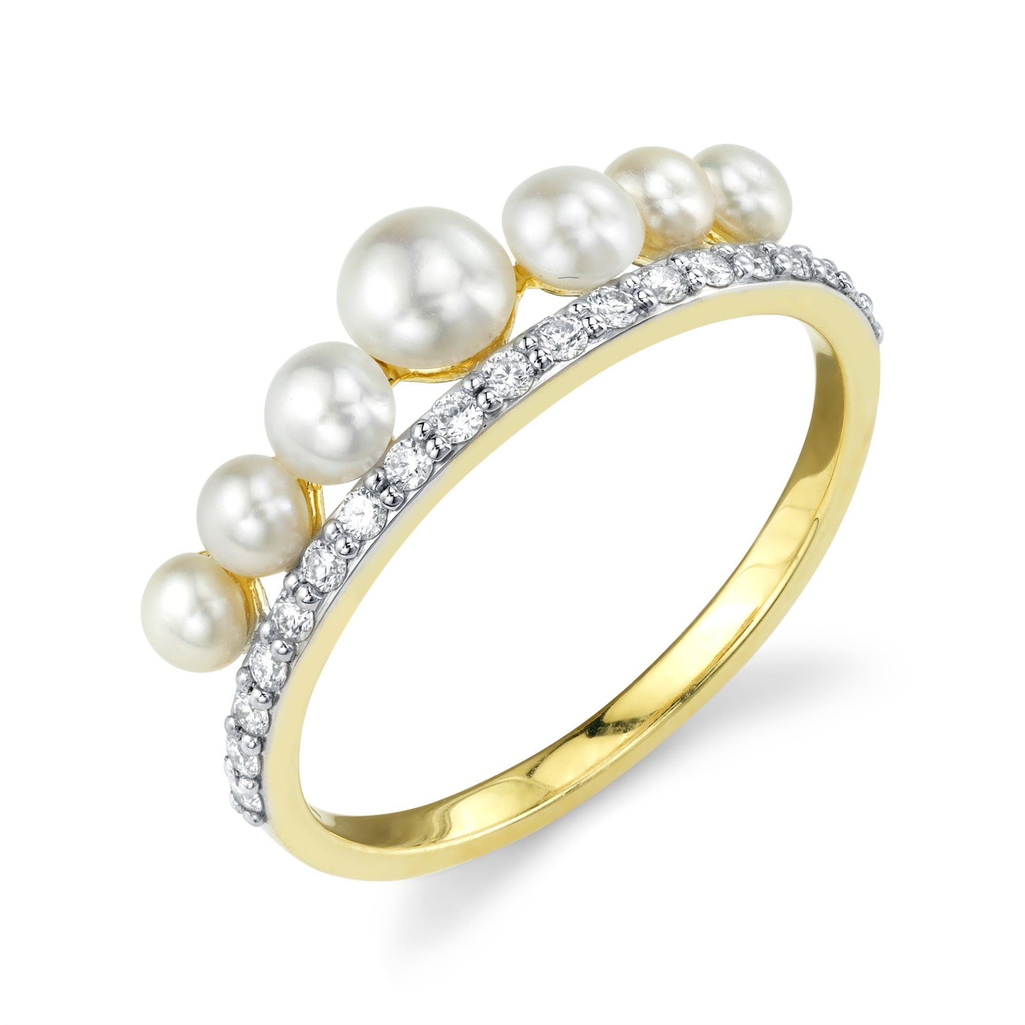 Sloane Street 18K Yellow Gold .38cts  Diamonds Gold Ring with Stones R005F-WP-WDCB-Y