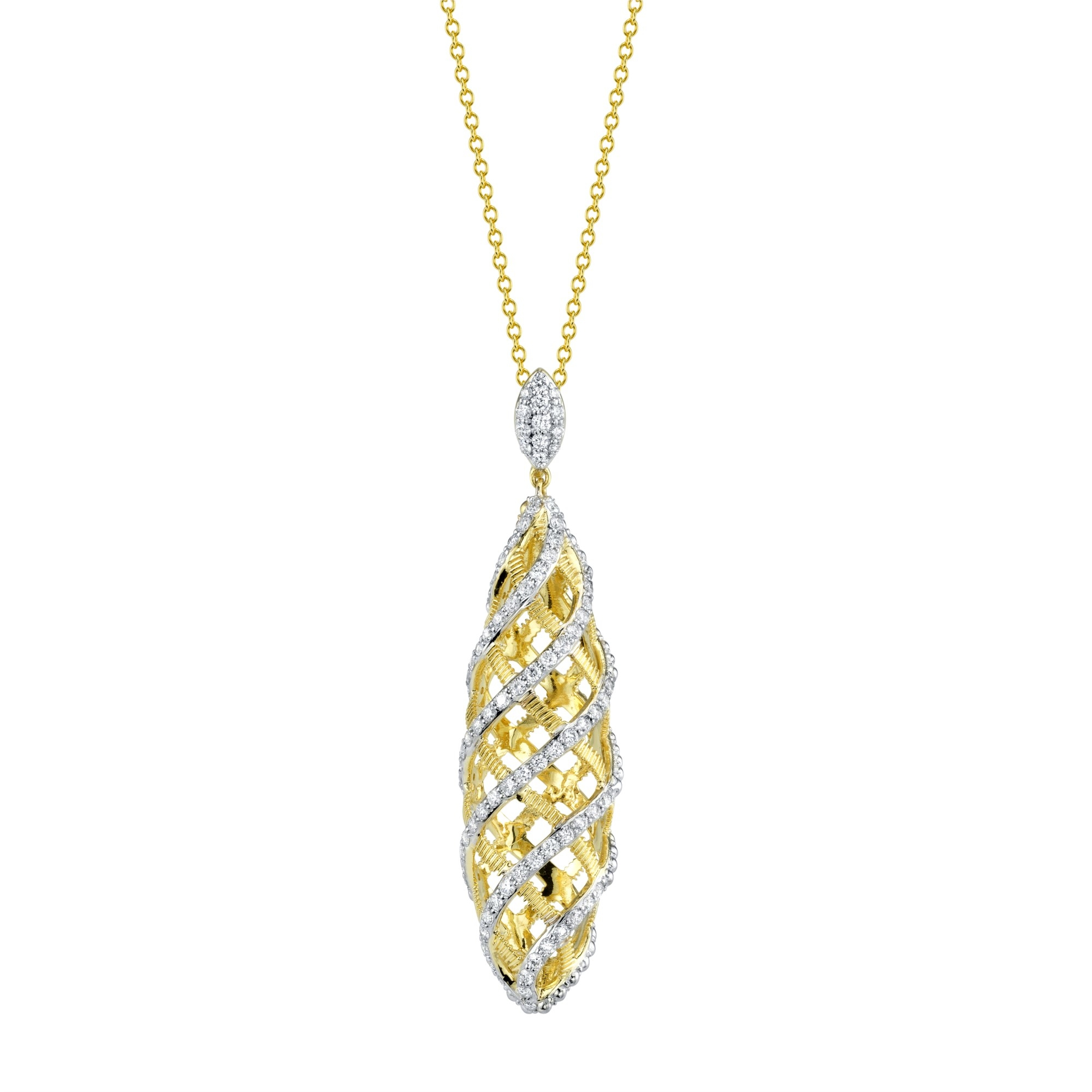 Sloane Street 18K Yellow Gold .85cts  Diamonds Gold Pendants / Charms P003F-WDCB-Y