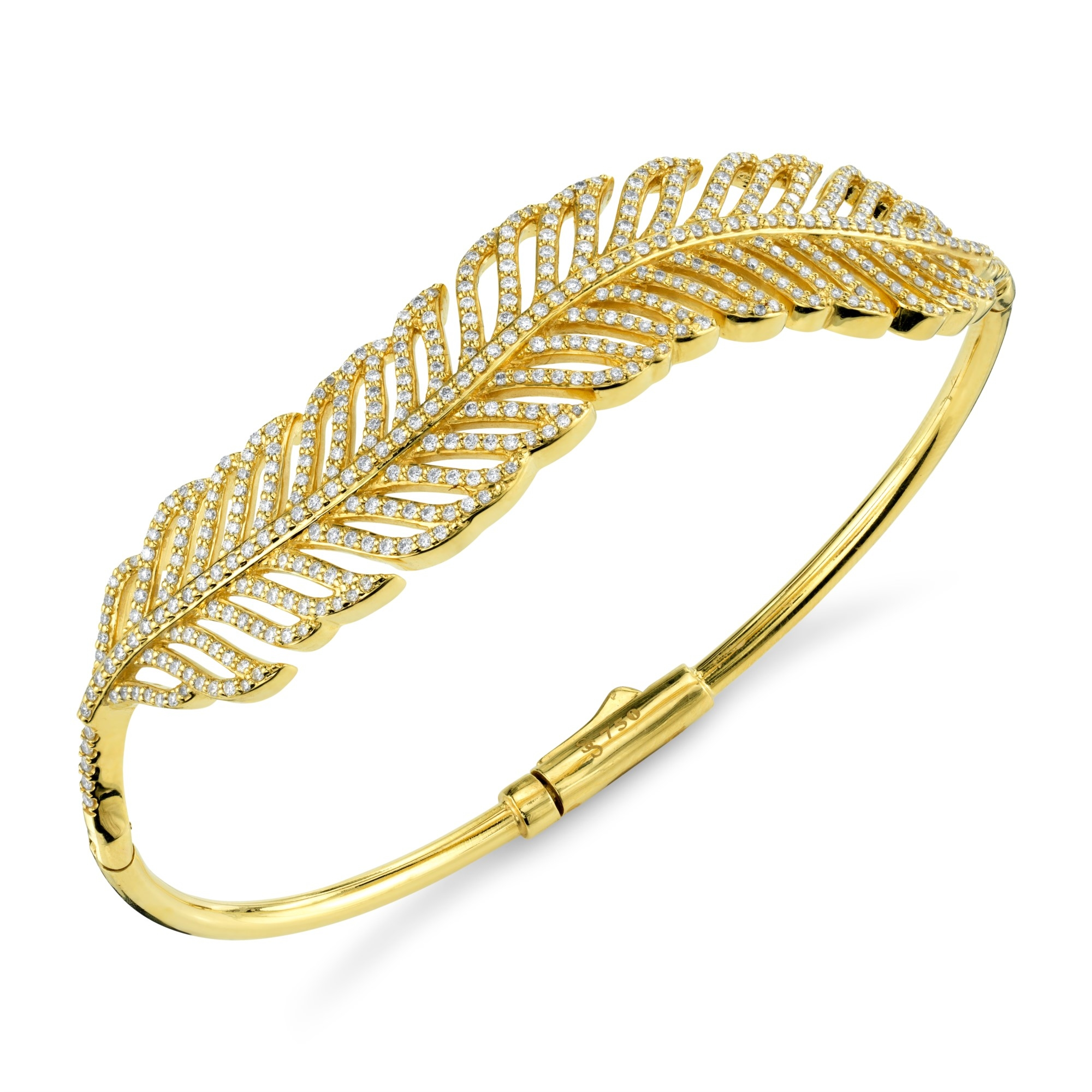 Sloane Street 18K Yellow Gold 1.73cts  Diamonds Gold Bangle with Stones B006T-WD-Y