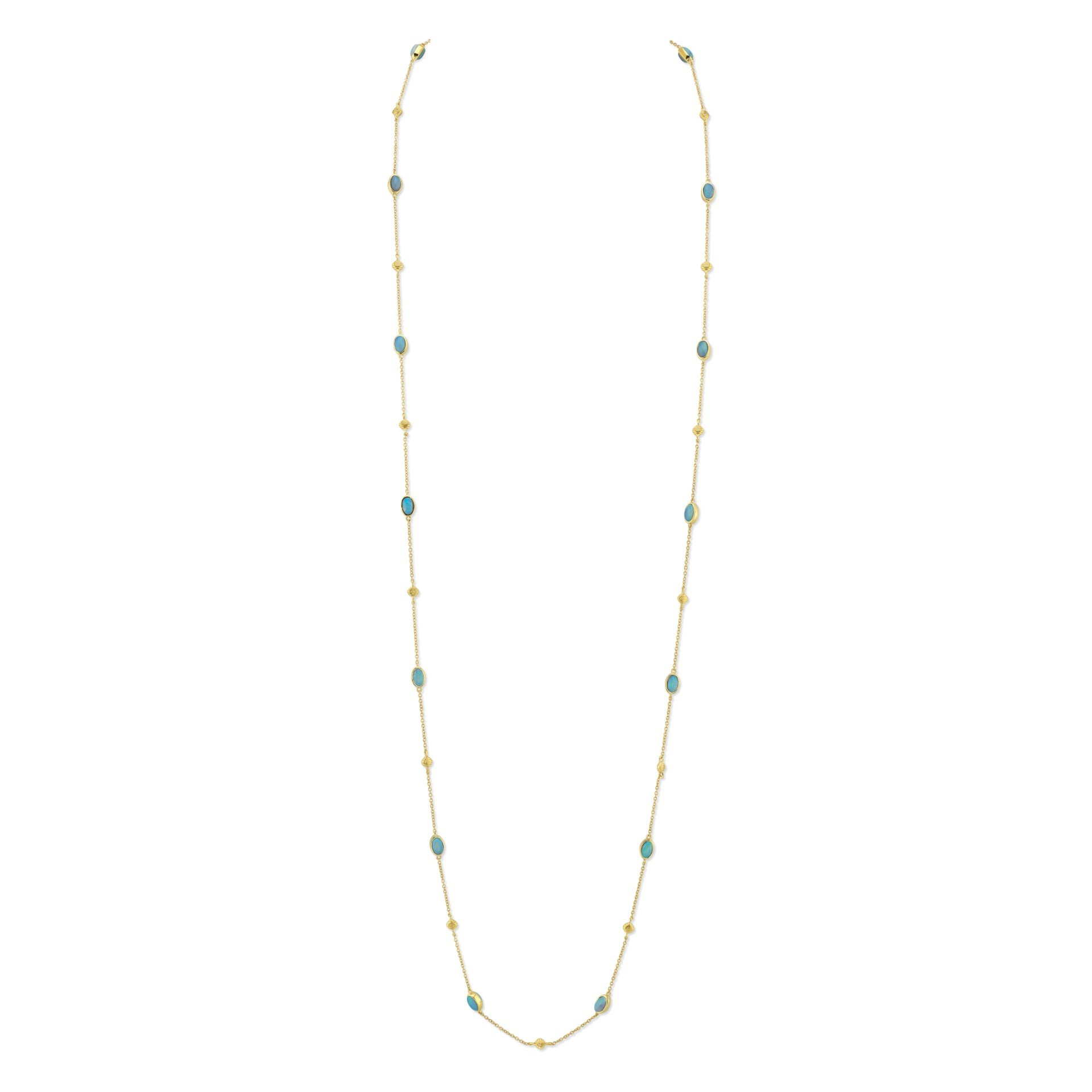 Sloane Street 18K Yellow Gold 4.5cts  Crystal Opal Gold Necklace with Stones CH006E-CO-Y