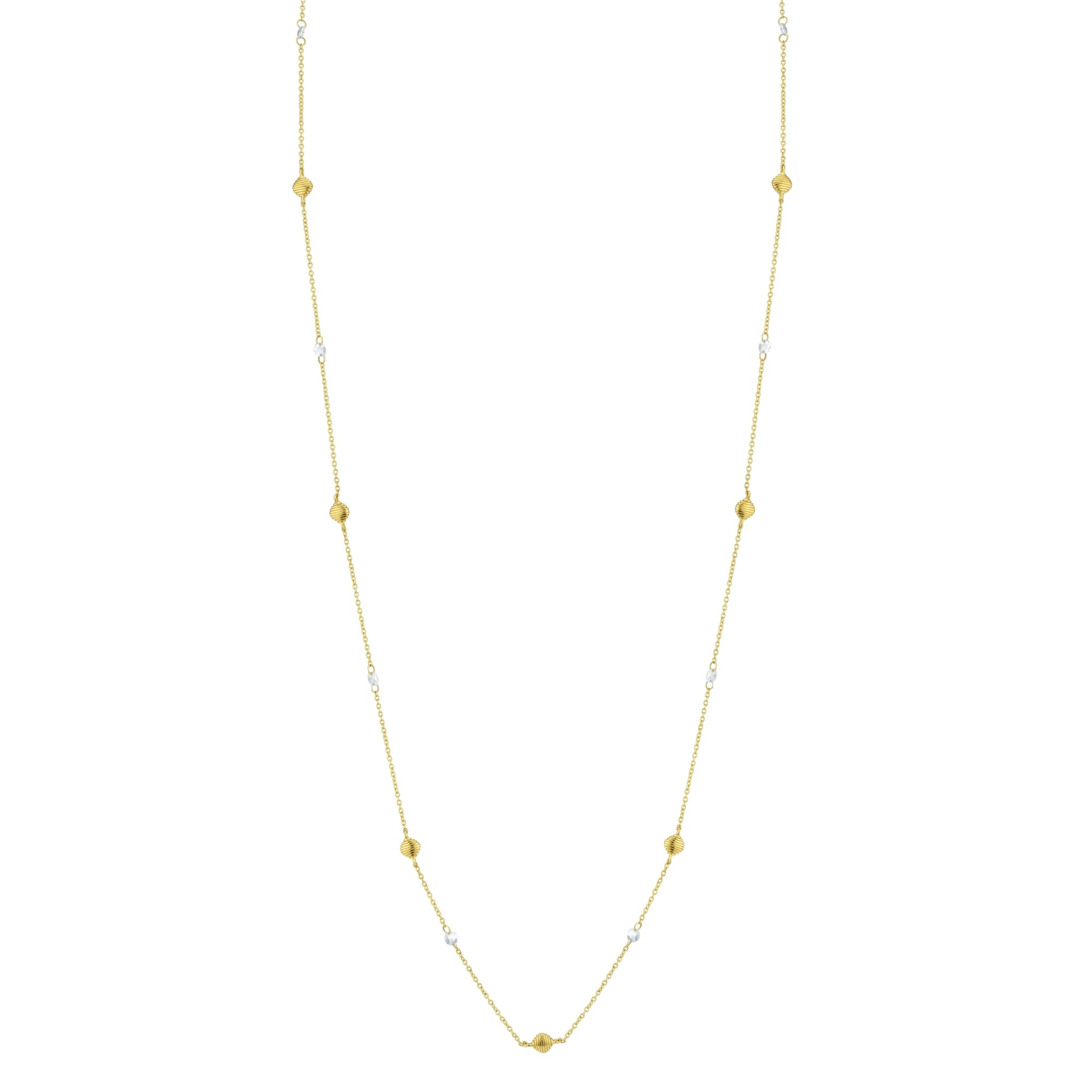 Sloane Streett 18K Yellow Gold .57cts  Diamonds Gold Necklace with Stones CH022E-WD-Y