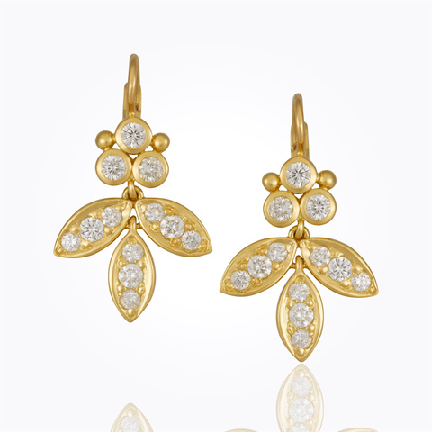 Temple St. Clair 18K Yellow Gold .98cts  Diamonds Gold Earrings with Stones E31818-DIGRFGL