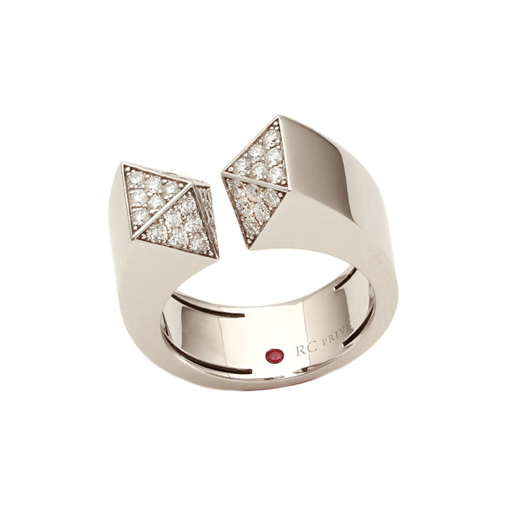 Roberto Coin 18K White Gold .82cts  Diamonds Gold Ring with Stones 8882413AW65X