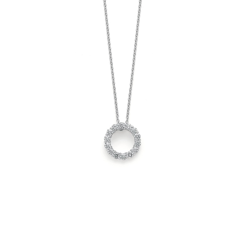 Roberto Coin 18K White Gold 1.25cts  Diamond Gold Necklace with Stones 001151AWCHX0
