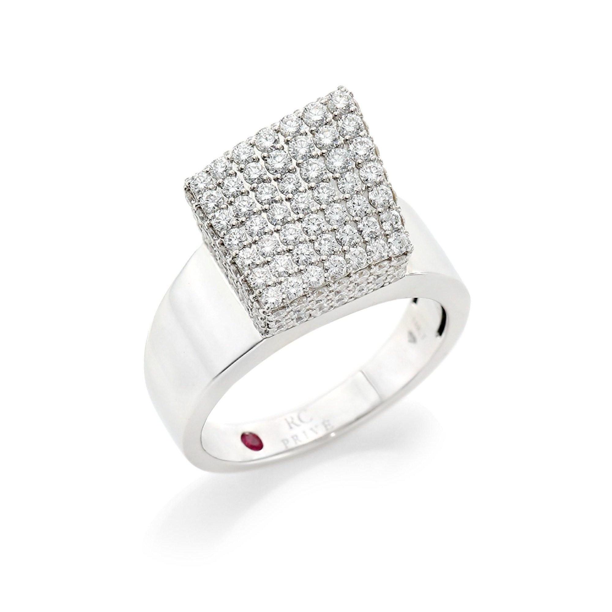 Roberto Coin 18K White Gold 1.65cts  Diamonds Gold Ring with Stones 8882396AW65X