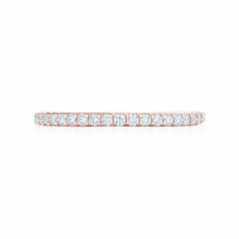Birks 18K Rose Gold .29cts  Diamonds Gold Ring with Stones 450011682502--7