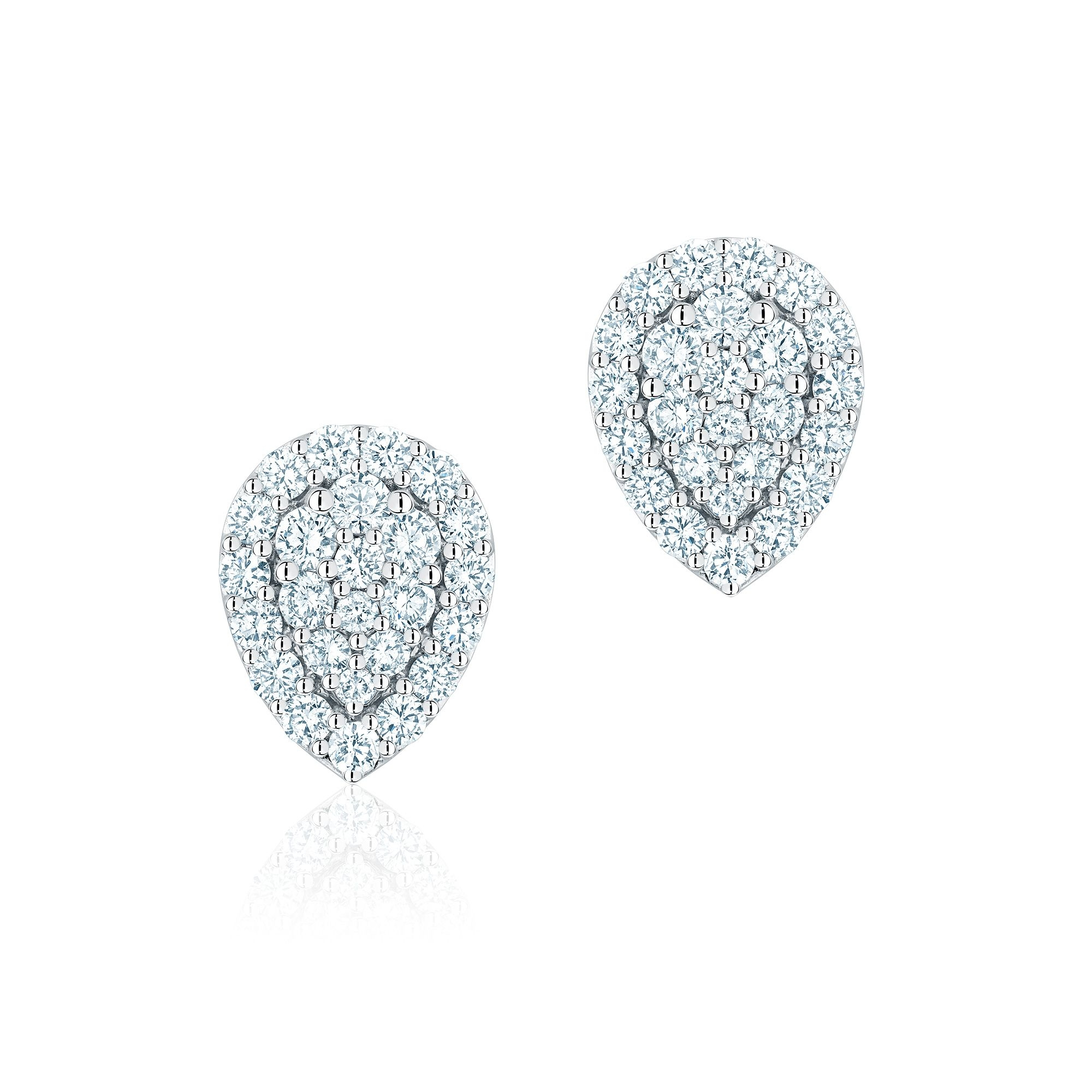 Birks 18K White Gold .88cts  Diamond Gold Earrings with Stones 450012707839