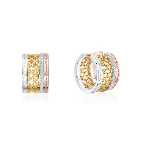 Birks 18K Yellow Gold .19cts  Diamond Gold Earrings with Stones 450009499990
