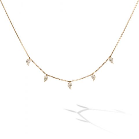 Birks 18K Yellow Gold .32cts  Diamonds Gold Necklace 450013991039