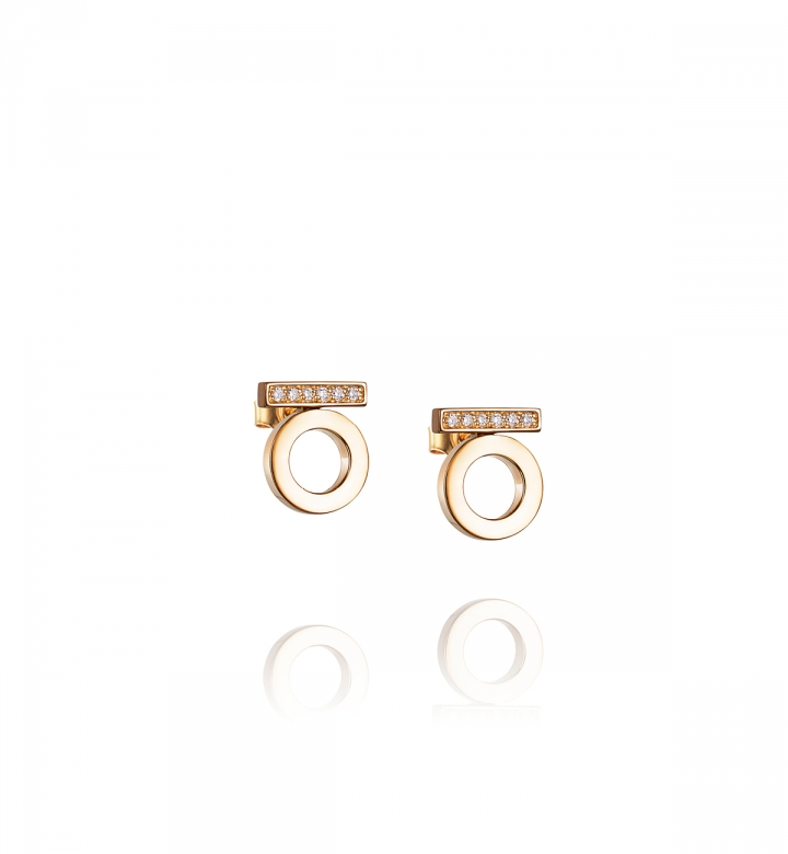 Efva Attling 18K Yellow Gold   Diamonds Gold Earrings with Stones 12-101-01191/0000