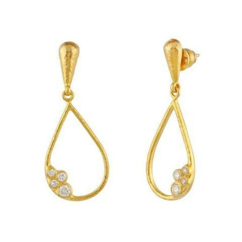 Gurhan 22K Yellow Gold .44cts  Diamond Gold Earrings with Stones TDE-SCTDI-DR-L-HO