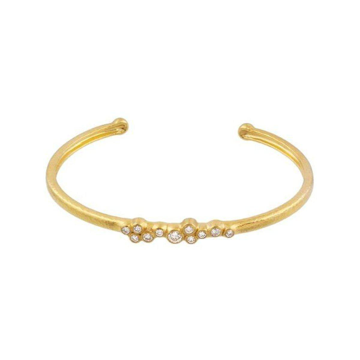 Gurhan 22K Yellow Gold .48cts  Diamond Gold Bangle with Stones CB-SCTDI-11DI-NV