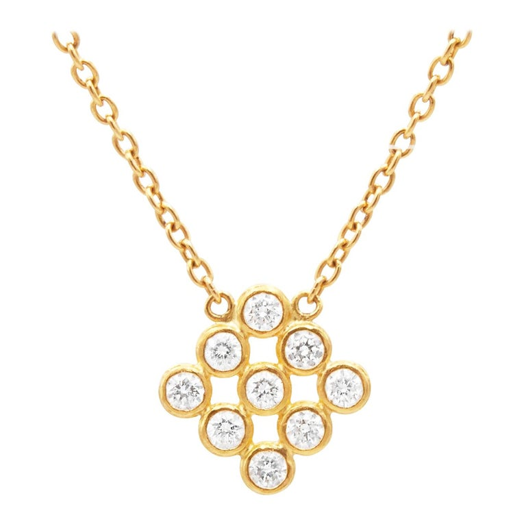 Gurhan 22K Yellow Gold .87cts  Diamonds Gold Necklace with Stones MTN-S33-DI-N
