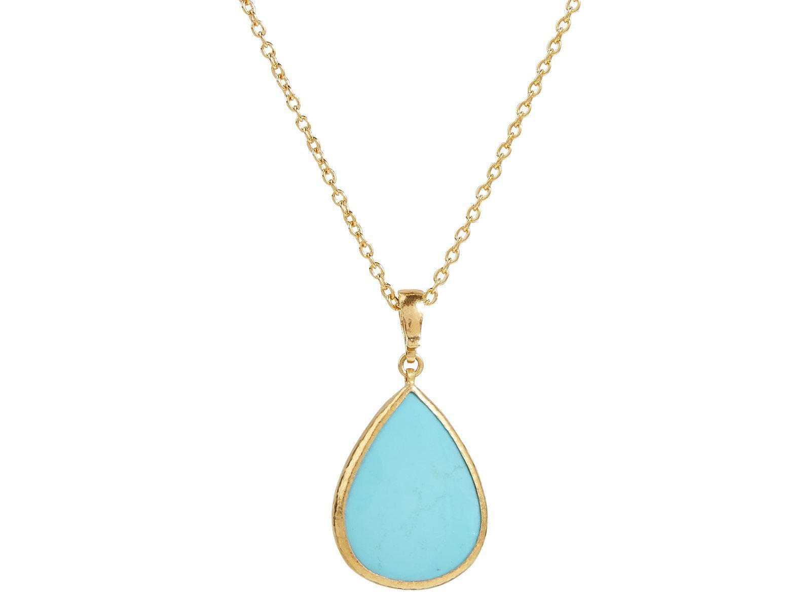 Gurhan 24K Yellow Gold 10.6cts  Turquoise Gold Necklace with Stones OKN-YG-TQ18-2433