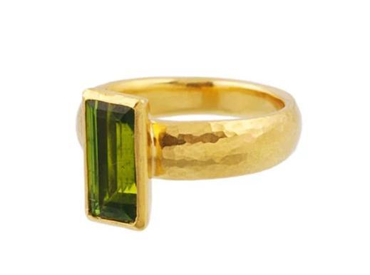 Gurhan 24K Yellow Gold 3.4cts  Peridot Gold Ring with Stones R-U22740-PD
